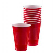 Apple Red Plastic Cups (10)